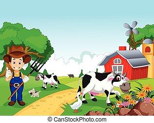 farma, grafické pozadí