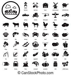 farma, ikona, dát
