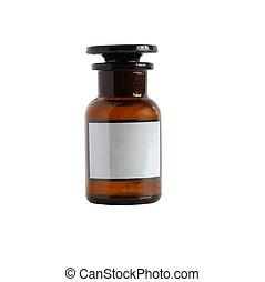 farmacéutico, frasco