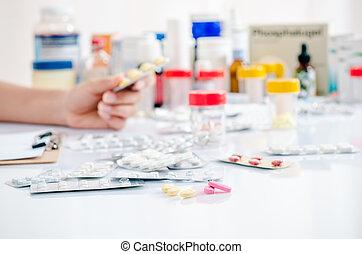 farmacéutico, tienda