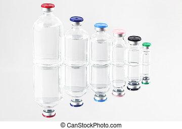 farmacêutico, frascos