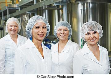farmacêutico, trabalhadores, fábrica