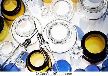 farmaceutisk, liten medicinflaska