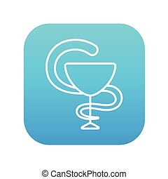farmaceutisk, medicinsk symbol, beklæde, icon.