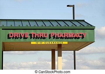 farmacia, thru, unidad