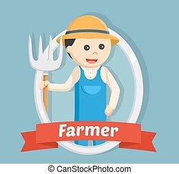 farmer, alatt, embléma, szín
