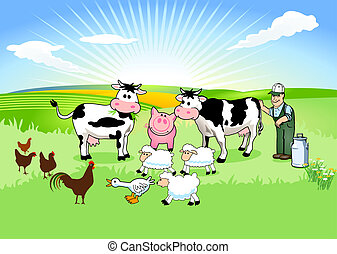 Farmer and his Animals