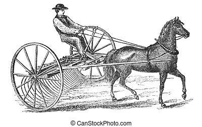 Farmer at work - RUSSIA - CIRCA 1897: engraving taken from...