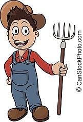 Farmer cartoon illustration