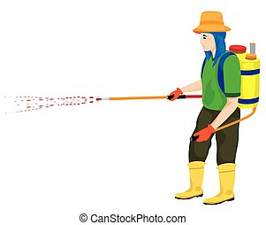 farmer cartoon shape on white background vector design