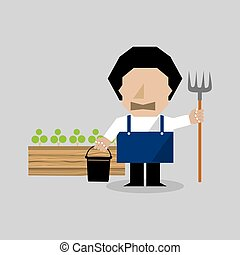 Farmer Character Vector