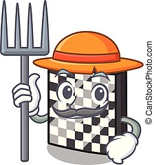 Farmer chessboard with in the a mascot