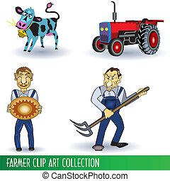 Farmer Clip Art Collection