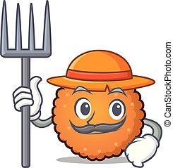 Farmer cookies character cartoon style