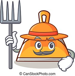 Farmer dustpan character cartoon style vector illustration