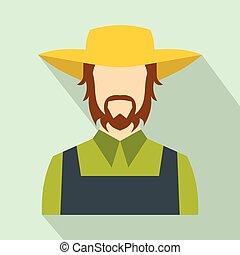 Farmer flat icon