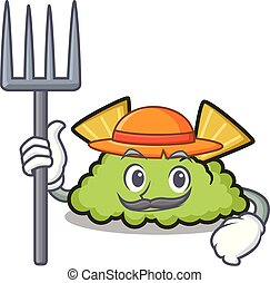 Farmer guacamole character cartoon style