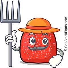 Farmer gumdrop character cartoon style vector illustration