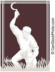 farmer-harvest-scythe-front - illustration of a farmer...