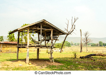 farmer hovel for waiting the cows