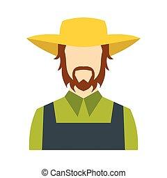 Farmer icon flat