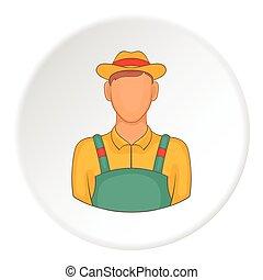 Farmer icon, flat style