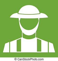 Farmer icon green