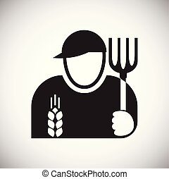 Farmer icon on white background for graphic and web design, Modern simple vector sign. Internet concept. Trendy symbol for website design web button or mobile.