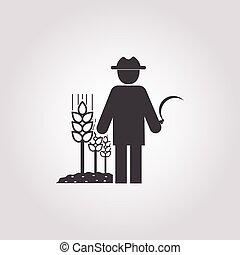 farmer icon on white background