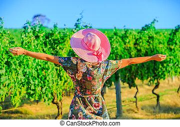 Farmer in Australian Vineyard