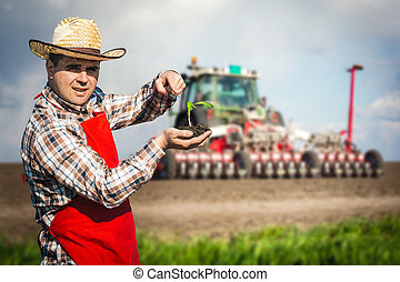 Farmer in the field