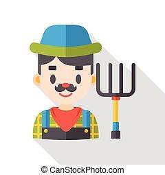 farmer man flat icon