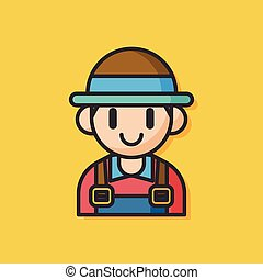farmer man vector icon