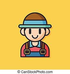 farmer man vector icon
