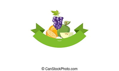 Farmer or farm video animated label - Farmer video logo or...