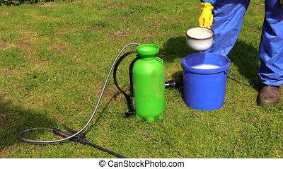 farmer prepare chemical