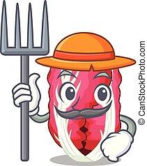 Farmer radiccho in the shape of mascot