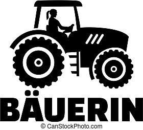 Farmer tractor job title female german