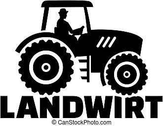 Farmer tractor male job title german
