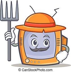 Farmer TV character cartoon object