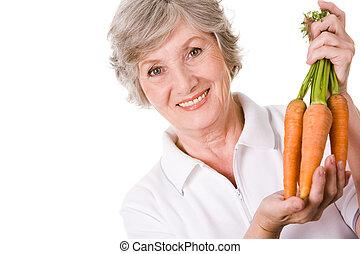 Farmer with carrots