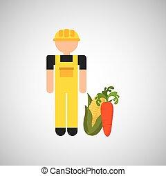 farmer worker icon