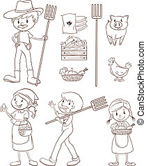 Farmers and animals