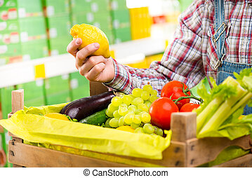 Farmer's fresh harvest