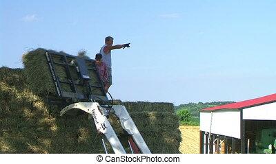 Farmers Loading Hay 03