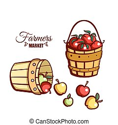 Farmers Market Apples Tomatoes