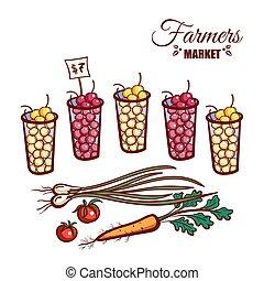 Farmers Market Berries Vegetables