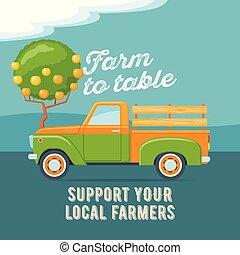 Farmers market concept