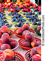 Fresh organic fruit for sale at local farmers markets