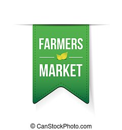 Farmers Market green ribbon